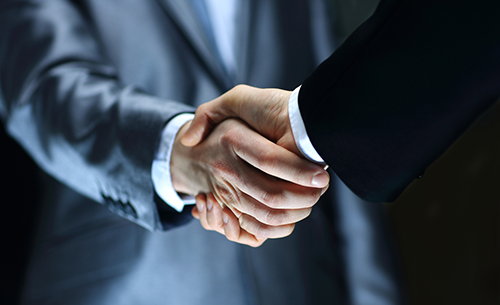 Business handshake contract